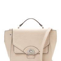 Danielle Nicole Women's Brooklynne Faux Leather Satchel - Grey