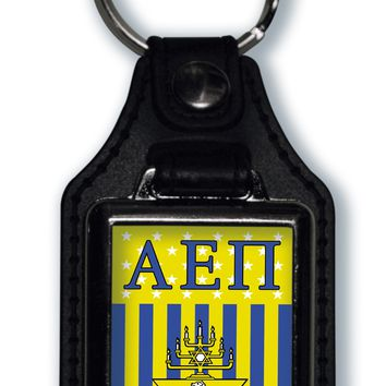Alpha Epsilon Pi US Flag Style Licensed Greek Life Keychain