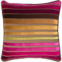 Velvet Stripe Pillow | Fuschia