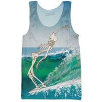Surfing Skeleton Tank Top
