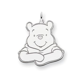Disney's Sterling Silver Large Winnie the Pooh Charm