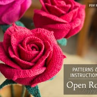 Crochet Flower Pattern - Open Crochet Rose Pattern for Wedding Bouquets and Home Decoration - Crochet Pattern - DIY Bouquet