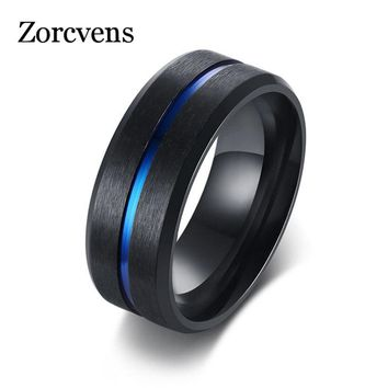 ZORCVENS Cool Spinner Cross Rings for Men Black Tone Stainless Steel Engraved Bible Prayer Male Finger Anel Gifts