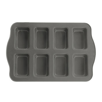 Evelots® 8 Cup Non-Stick Mini Loaf & Brownie Baking Pan, Kitchenware