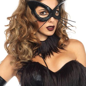 Leg Avenue Female Oversized Bunny Eye Mask With Whiskers A2744