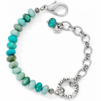 Brighton Art & Soul Laugh Beaded Bracelet