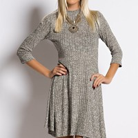 Hey Baby Knit Ribbed Skater Dress