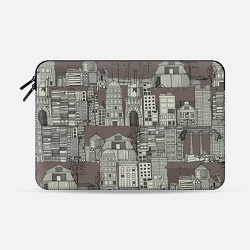 dystopian toile drab Macbook Pro 13 sleeve by Sharon Turner   Casetify