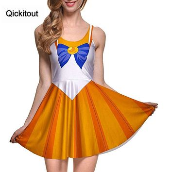 Qickitout Dress Sexy Japanese Anime Sailor Moon Cosplay soldier Adult Halloween Fancy Dress Costume Sailormoon women girl Macchar Cosplay Catalogue