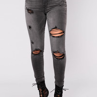 Sat On Thorns Jeans - Grey