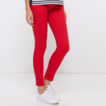 Brief Style Trousers Solid Candy Colors Plus Size Slim Fit