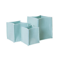 Mellow Felt Storage Baskets Set Of Three - Mint Green