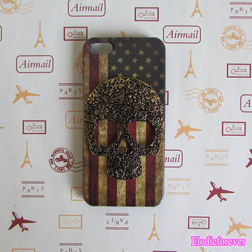 USA flag iphone 5 case,American flag iphone case,american iphone 5 case,Vintage Flags iPhone 5 Case,skull iphone 5 case,american flag