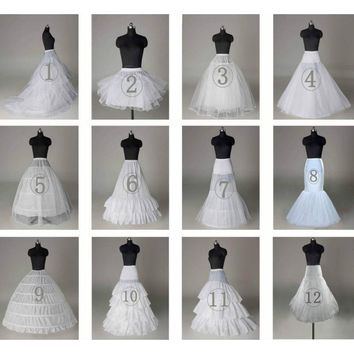Various White Ball Gown Petticoat For Wedding Dress 2017 Jupon Mariage Plus Size Underskirt Crinoline being Wedding Accessories