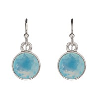 LUMEN Petite Earrings - Silver + Blue