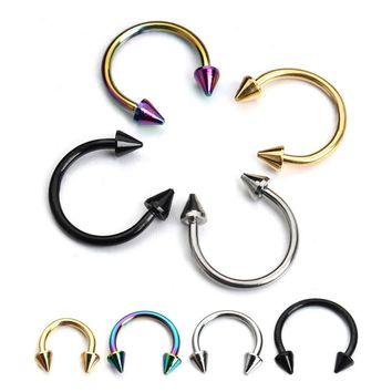 10pcs/lot Stainless Steel Nose Ring Studs 3Size Punk Style Earring Rings Labret Studs Body Piercing Jewelry For Women Men F3890