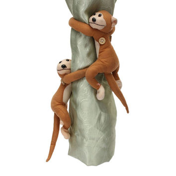 2pcs Monkeys Curtain Buckle Tiebacks Holder Window Drapery Hooks Decoration For Blinds