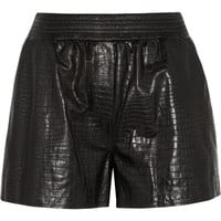 Alexander Wang | Croc-effect leather shorts | NET-A-PORTER.COM