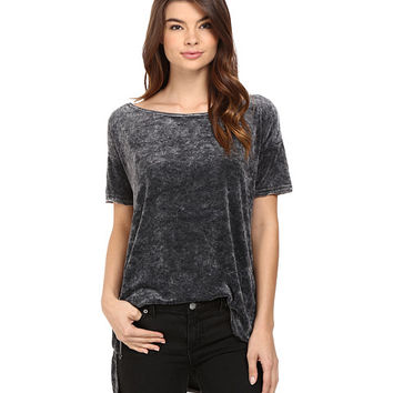 Free People Doran Washed Tee Black - Zappos.com Free Shipping BOTH Ways