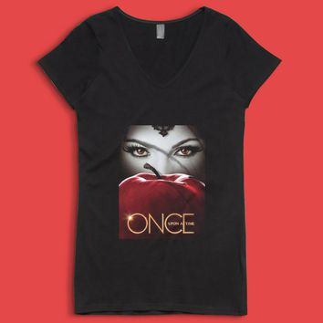 Tv Show Once Upon A Time High Women'S V Neck