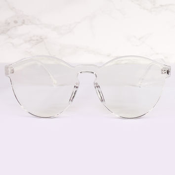 Round Clear Lens Tranquil Sunnies