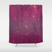 Pink Space Shower Curtain by Good Sense | Society6