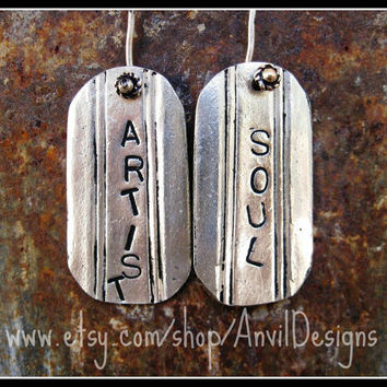 Artist Soul Recycled Vintage Silverware Earrings