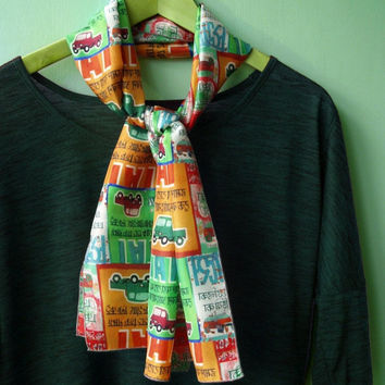 ON SALE Lightweight Summer Scarf, Colourful Silk Scarf, Valentines Gift