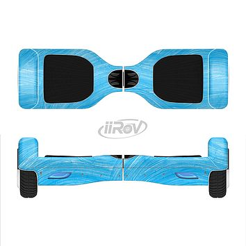 The Blue Painted Brush Texture Full-Body Skin Set for the Smart Drifting SuperCharged iiRov HoverBoard