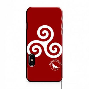 Teen Wolf Inspired Triskelion Symbol iPhone X Case