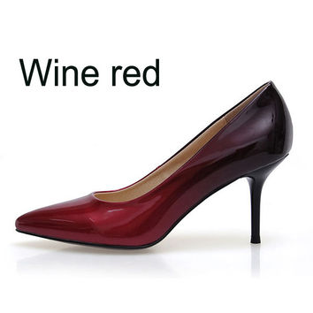 Patent Leather  Thin heel Pointed Toe
