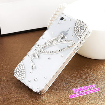 SALE:Bling Bling Swarovski iPhone Case Crystals Rhinestone Angel Fairy iPhone 5S Case iPhone 5 Case handmade.1 IN STOCK