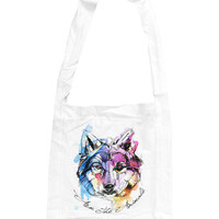 Accessory | Sunset Wolf | Cotton Sling Bag