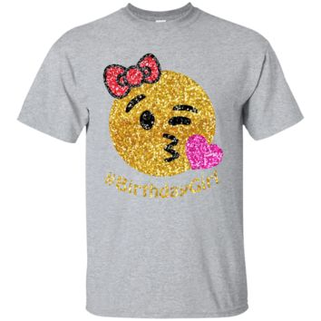 birthday emoji shirt for girls Youth Custom Ultra Cotton Tee