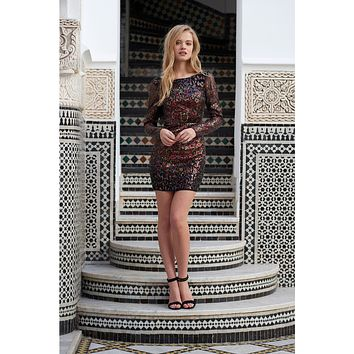 Tapestry Mini Dress in Tapestry Sequins