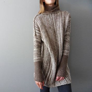 Long Sleeve Knit Tops Winter Pullover Sweater Jacket [14119174164]