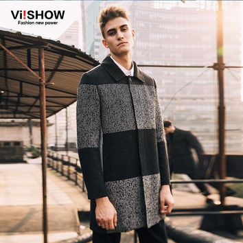 VIISHOW Brand Winter Pea Coat Men Jacket  Long Trench Coat Male Overcoat Jacket Winter Long Jacket Coats for Men FC10153