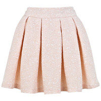 Nude Textured Jacquard Skirt - View All  - New In