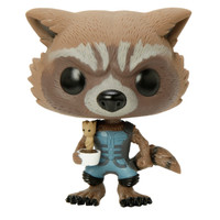 Funko Marvel Guardians Of The Galaxy Pop! Rocket Potted Groot Vinyl Bobble-Head 2015 Summer Convention Exclusive
