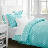 Dottie Duvet Cover + Sham, Pool