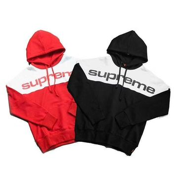 ca kuyou 17FW Supreme Blocked Hooded Mens