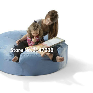 Aqua blue island bean bag chair, outdoor sofa cover , mom and children's reading book chair