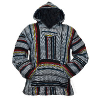 Classic Multi-Stripe Pullover Baja Hoodie on Sale for $19.95 at HippieShop.com