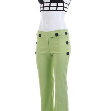 7b47fd31a2aada Lime Green Pants 90s Pants Low Rise Bell Bottom Flared Pants 90s does 70s  Clothing Stretchy