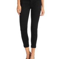 Anja Luxe Sateen Cropped Pants,
