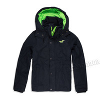 Hollister Jacket All Season Jacket Winter Coat Black XL