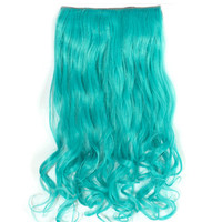 Mermaid Hair Extensions in Aqua