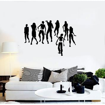 Vinyl Wall Decal Zombies Silhouette Son Room Decoration Interior Art Stickers Mural (ig5964)
