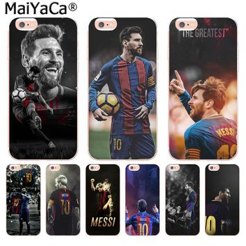 Lionel Messi Hot on sell Unique Design Newest The Fashion phone Case for iPhone 8 7 6 6S Plus X 10 5 5S SE 5C 4 4S Cover
