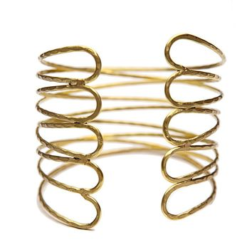 Punk Gold Arm Cuff Bangle Bracelet For Women